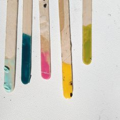 I'm always left with loads of colourful lollipop sticks after mixing the resin pigments. Lollipop Sticks, Color Splash, Resin, Etsy Shop, Contemporary, Instagram Posts, Handmade, Crafts, Hand Made