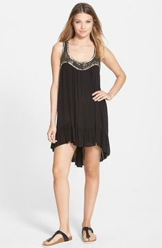 En Crème Embellished Swing Dress (Juniors) available at #Nordstrom