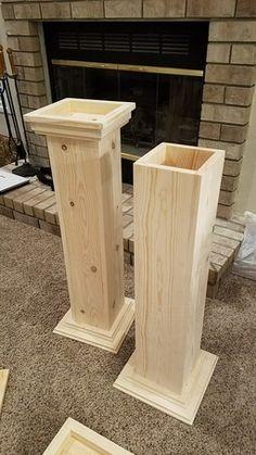 Woodworking Workshop Air Compressor DIY Wedding Pedestals - Simple to Make.Woodworking Workshop Air Compressor DIY Wedding Pedestals - Simple to Make. Awesome Woodworking Ideas, Woodworking Projects Diy, Woodworking Shop, Woodworking Plans, Woodworking Workshop, Woodworking Furniture, Wood Shop Projects, Furniture Projects, Diy Furniture