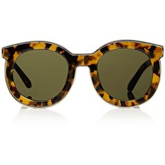 Karen Walker Star Sailor Sunglasses ($325) ❤ liked on Polyvore featuring accessories, eyewear, sunglasses, multi, round tortoiseshell glasses, round lens glasses, round tortoise glasses, tortoiseshell sunglasses and oversized sunglasses