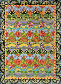 Jane A Sassaman's Kaleidoscope II Quilt ...............her work is amazing and her style is unmistakable.