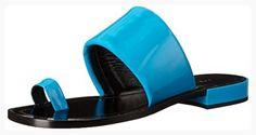 Calvin Klein Collection Women's Siri Patent Toe Ring Sandal, Blueberry, 37.5 EU/7 M US (*Partner Link)