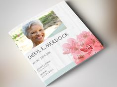 Easy customizable Funeral Program Card Template. Get your copy now ...