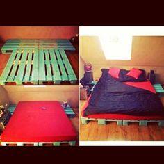 europaletten bett bauen preisg nstige diy m bel im schlafzimmer europaletten bett bett. Black Bedroom Furniture Sets. Home Design Ideas