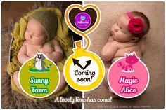Neue Muster von #Milovia Sunny Farm & Magic Alice verfügbar ab dem 25. Januar 2016 bei www.die-besten-stoffwindeln.de