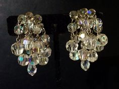 A personal favorite from my Etsy shop https://www.etsy.com/listing/237446654/vintage-ab-crystal-cha-cha-earrings-clip