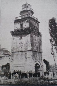 Coltea Tower before demolition, Bucharest 1888 Old Pictures, Old Photos, Bucharest Romania, Old Building, My Town, Time Travel, 19th Century, Tower, Country