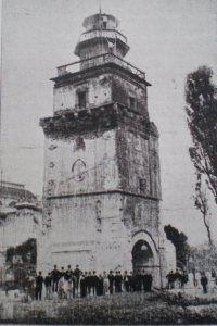 Coltea Tower before demolition, Bucharest 1888