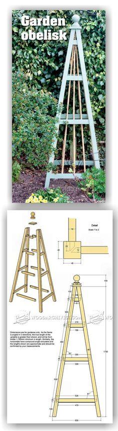 Garden Obelisk Plans - Outdoor Plans and Projects | WoodArchivist.com