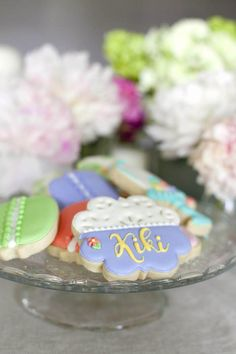 Cookies from a Sweet Macaron Themed Birthday Party