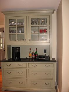 raised panel beaded inset custom cherry bar with integrated appliances in groton ma ashutters pinterest raised panel cherry bars and appliances