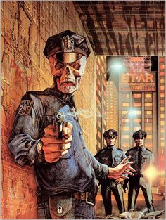 Patrick Woodroffe - Cover art for an edition of A Scanner Darkly by Philip K. Dick, 1993