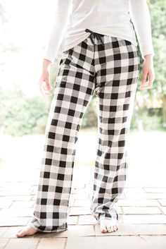No need to forfeit style for comfort. Enjoy both in a Monochromatic flannel pair of PJ bottoms.