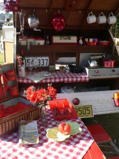 if @party-party-party for a Cause could travel back, it would be to the #fifties with a #teardrop and happy camping #red