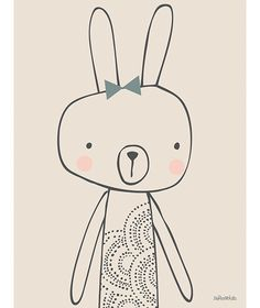 Tableau Blanche by Paper & Cloth x 40 cm) : Lilipinso Art Blanc, Kids Prints, Cute Characters, Baby Decor, Baby Design, Cartoon Drawings, Nursery Art, Graphic Illustration, Illustrations Posters