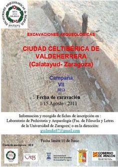 Campaña VII de excavaciones arqueológicas en la ciudad celtibérica de Valdeherera, (Calatayud, Zaragoza), del 1 al 15 de agosto de 2013.