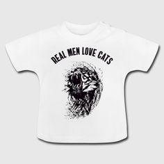 50bd6de25c0ecc real man love cats tiger katze mann miau ironie LO Männer Premium T-Shirt -  Weiß