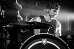 Josh with his drums
