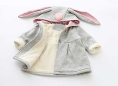 Sping Autumn Winter Baby Girls Infants Kids Ball Cute Rabbit Hooded Princess Jacket Coats Outwears Gifts Roupas Casaco S3989 Do you want it Visit us