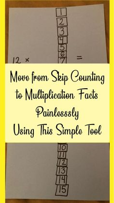 From Skip Counting to Multiplication Tables – Making It Easy – CC Memory Master – Wander Far – School at Home Learning Multiplication, Multiplication Strategies, Teaching Math, Multiplication Tables, Maths, Math Fractions, Math Vocabulary, Teaching Aids, Division For Kids