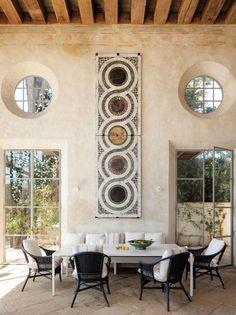 dining area, Richard Shapiro's Malibu home | C Home • Lisa Romerein