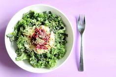 Raw Wakame Massaged Kale Salad with Lemon Tahini Dressing