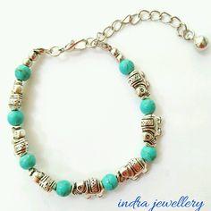 Elephant bracelet, boho elephant bracelet, indian bracelet, turquoise bracelet, elephant jewelry, turquoise jewelry by indrajewellery on Etsy