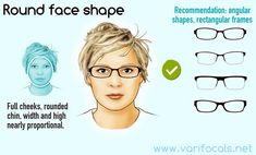 Round face shape with glasses