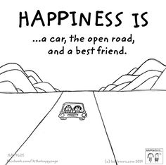 a car, the open road and a best friend