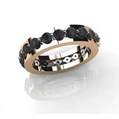 Βέρα με μαύρα Διαμάντια σε 18Κ Ρόζ χρυσό ΜΝ0013 Cuff Bracelets, Gold, Jewelry, Fashion, Moda, Jewlery, Jewerly, Fashion Styles, Schmuck