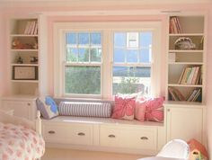 images of window seats with storage | built in storage and window seat | House ideas