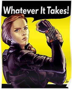 """""""Nat Can Do It!"""" by hugohugo Black Widow in the style of Rosie the Riveter Whatever it takes! Marvel Fan Art, Marvel Heroes, Marvel Avengers, Black Marvel Superheroes, Marvel Comics, Baby Avengers, Avengers Memes, Black Widow Scarlett, Black Widow Natasha"""