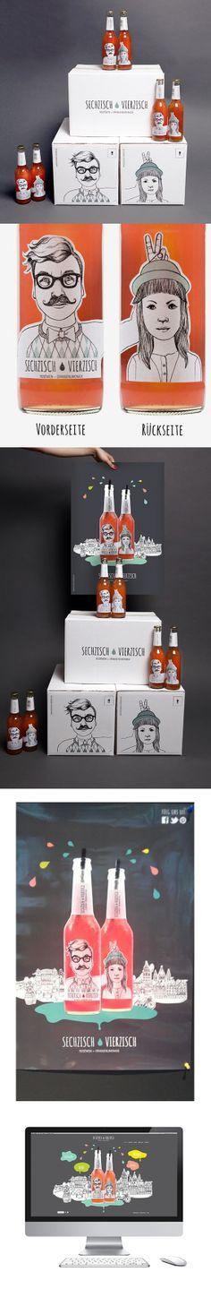 Sechzisch Vierzisch http://www.sechzisch-vierzisch.de/ cool packaging design