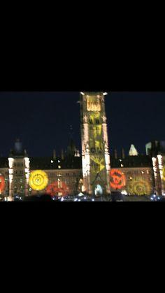 Ottawa light show Ottawa, Times Square, Travel, Viajes, Destinations, Traveling, Trips