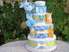 NEWGiraffe Themed Diaper Cake for Boys by AllDiaperCakes on Etsy, $85.00