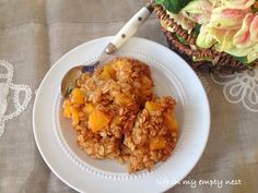life in my empty nest: Using Canned Peaches - Peach Baked Oatmeal