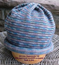 Sock yarn circular knit hat