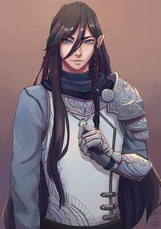 Elf Characters, Dungeons And Dragons Characters, Fantasy Characters, Fantasy Character Design, Character Design Inspiration, Character Art, Half Elf Dnd, Elf Drawings, Dnd Elves