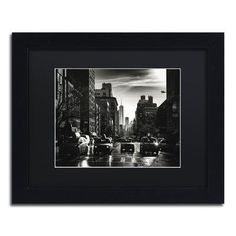 """Trademark Art """"Gotham Taxi NYC"""" by Philippe Hugonnard Framed Photographic Print Size: 1"""