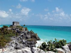 Ancient civilization - Mayan ruins in Tulum near Cozumel Mexico