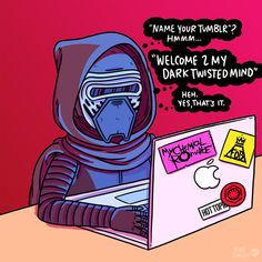 """Young Kylo Ren picking out his Tumblr name."" 