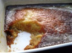 Old fashioned vinegar pudding - this has the texture of cake and served with ice cream, it resembles Indian Pudding - serve warm from the oven ...
