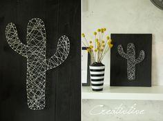 creativLIVE: DIY Nagel-Fadenbild Kaktus und ein Kissen