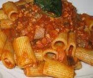 ⇒ Bimby, le nostre Ricette - Bimby, Rigatoni al ragù di verdure