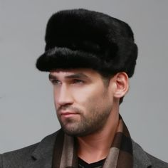 (104.83$)  Watch here - http://aiuqb.worlditems.win/all/product.php?id=32577052056 - winter Super warm snow show men ear muffs rex mink model same Russian style cap autumn male luxur fur hat hair handsome fur