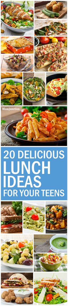 20 Delicious Lunch Ideas For Your Teens: encourage the older children in your house to eat healthy with these 20 lunch ideas for teens.