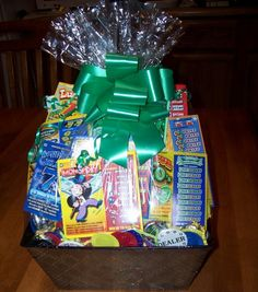Lottery card gift basket