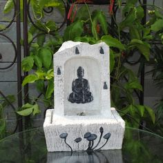 LED Buddha Indoor Tabletop Fountain