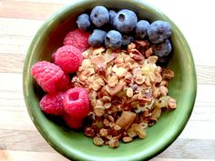 Granola is super easy to make in your own kitchen, so whip up a batch today to have on hand for a quick breakfast or post workout snack.