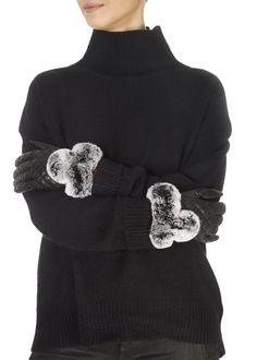 These are the gorgeous Black Quilted Leather Gloves With Black Snowtop Fur Trim from our own brand, These ladies fur lined. Green Fur, Khaki Green, Black Quilt, Black Fabric, Fur Pom Pom, Quilted Leather, Leather Gloves, Fur Trim, Shop Now